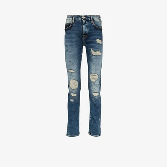 True Religion Rocco slim fit ripped jeans
