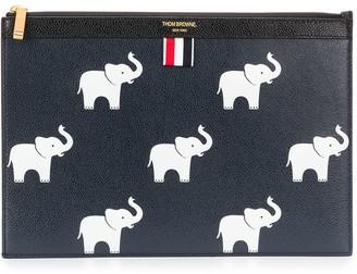 Thom Browne Elephant Print Clutch Bag