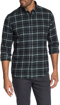 Slate & Stone Long Sleeve Front Button Plaid Shirt