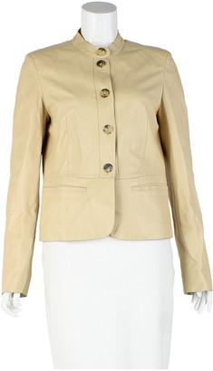 Burberry Ecru Leather Jackets