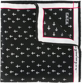fe-fe printed crosses pocket square - unisex - Silk - One Size