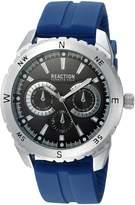 Kenneth Cole Reaction Men's Quartz Metal and Rubber Casual Watch, Color:Blue (Model: RKC0219001)