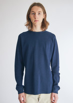 Beams Men's Thermal Mesh Crew in Navy Top, Size Small | 100% Cotton
