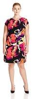 MSK Women's Plus-Size Zipper-Shoulder Knit Dress