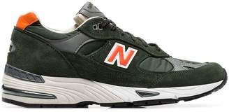 New Balance forest green 991 low-top suede sneakers