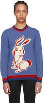 Gucci Blue Rabbit Knit Sweater
