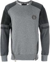 Philipp Plein zipper biker patch sweatshirt - men - Cotton/Polyester/Polyurethane - S