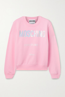 Moschino Printed Cotton-jersey Sweatshirt - Pink