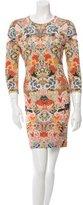 Alexander McQueen Floral Print Sheath Dress w/ Tags