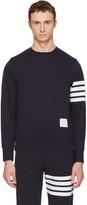 Thom Browne Navy Classic Four Bar Sweatshirt