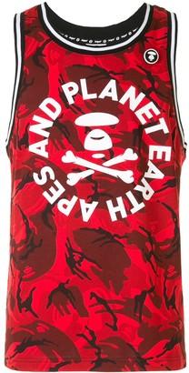 Aape By *A Bathing Ape® Logo Print Tank Top