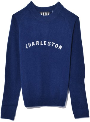 Veda Gus Cashmere Sweater in Navy Charleston