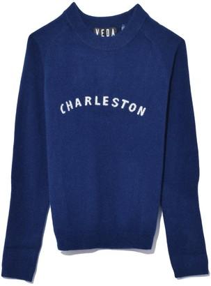 Veda Gus Cashmere Sweater in Navy Charleston