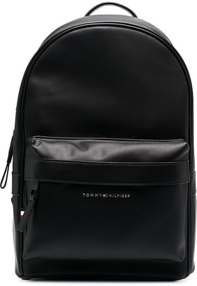 Tommy Hilfiger Logo-Plaque Zipped Backpack