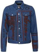 J.W.Anderson 'Florence' slogan print panelled unisex denim jacket