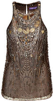 Ralph Lauren Savannah Hand-Beaded Tulle Top