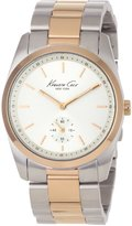 Kenneth Cole New York Women's KC4754 Baby Boyfriend Classic Round Two-Tone Case Watch