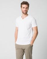 Le Château Cotton Slub Johnny Collar T-Shirt