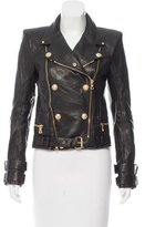 Balmain Perforated Leather Jacket