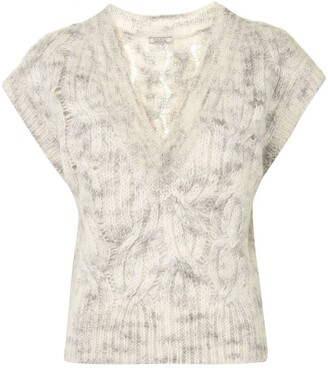 Nina Ricci Cable-Knit Sleeveless Jumper