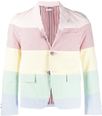 Thom Browne Rainbow Stripe Raglan Sport Coat