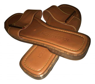Louis Vuitton Wayside Brown Leather Sandals