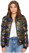 Romeo & Juliet Couture Quilted Puffy Bomber Jacket