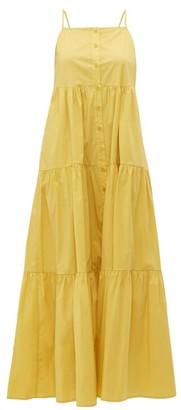 Sea Luna Tiered Cotton-blend Maxi Dress - Womens - Yellow