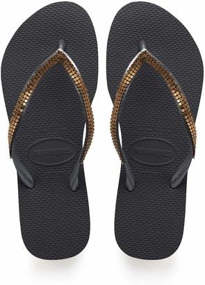 Havaianas Women's Slim Metal Mesh Flip Flop Sandal