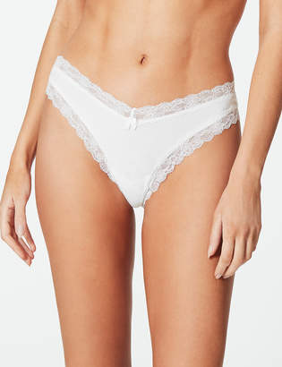 M&S CollectionMarks and Spencer Cotton Blend Lace Miami Knickers