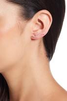 Shashi Pave Swirl CZ Swirl Climber Earrings