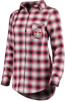 Women's Concepts Sport Navy/Red New York Red Bulls Forge Plaid Tunic