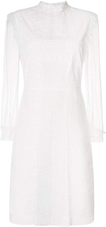 Burberry lace panel dress