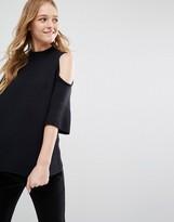 Monki Cold Shoulder Lightweight Sweater