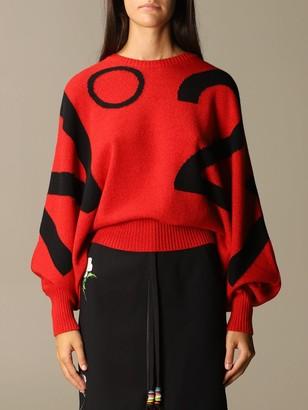 N°21 N deg; 21 Virgin Wool Sweater With Jacquard Logo