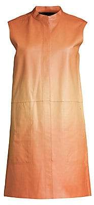 Lafayette 148 New York Women's Malva Ombré Leather Vest