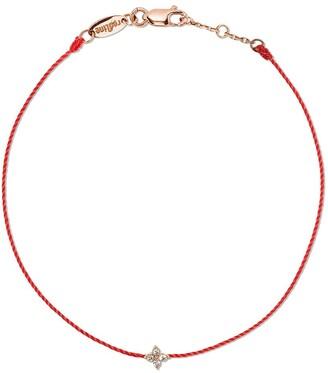 Redline 18kt rose gold Shiny thread diamond bracelet