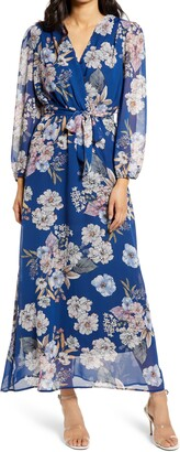 Fraiche by J Megan Floral Long Sleeve Dress