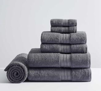 Pottery Barn Hydrocotton Organic Towel Bundle With Bath Mat - Set of 7