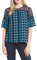 Draper James Women's Meadow Vines Lace Top
