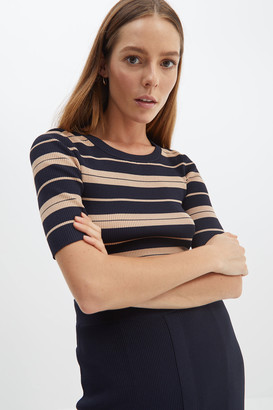 SABA Victoria Stripe Knit Top