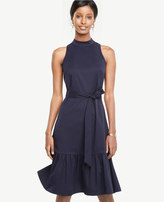 Ann Taylor Mock Neck Belted Dress