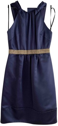 Vera Wang Blue Silk Dress for Women