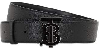 Burberry 35MM TB LEATHER BELT