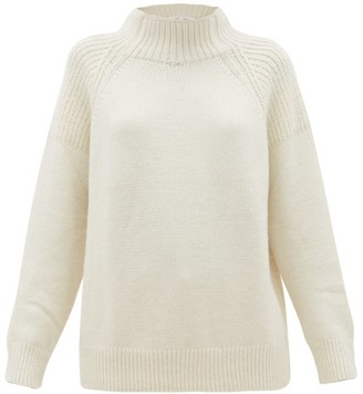 Frame High-neck Sweater - Womens - Ivory