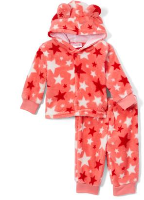 Sweet & Soft Girls' Fleece Jackets - Pink Star Fleece Pants & Jacket Set - Newborn & Infant