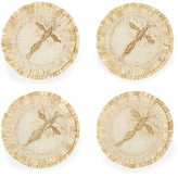 Joanna Buchanan Set of 4 Dragonfly Straw Coasters - Natural