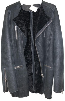 IRO Black Shearling Coat for Women