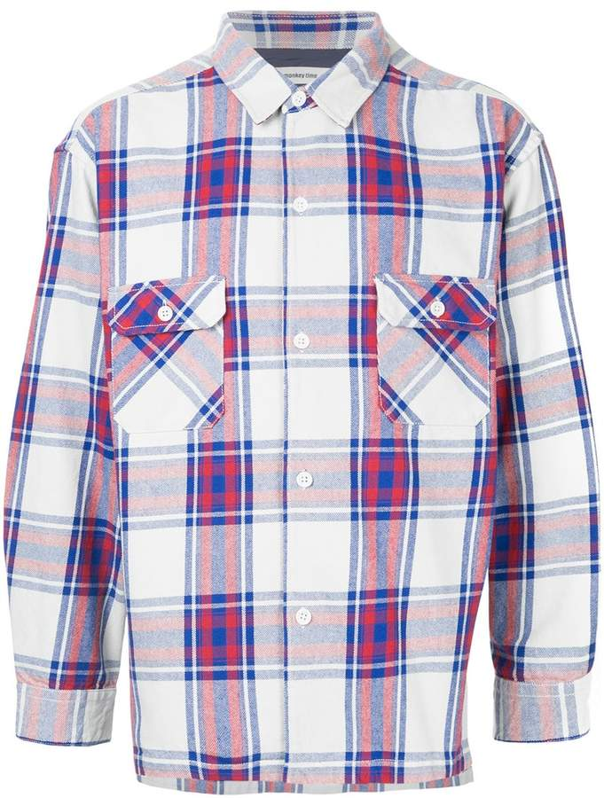 Monkey Time Checked Button-Down Shirt