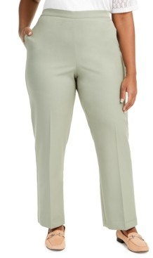 Alfred Dunner Plus Size Chesapeake Bay Pull-On Pants